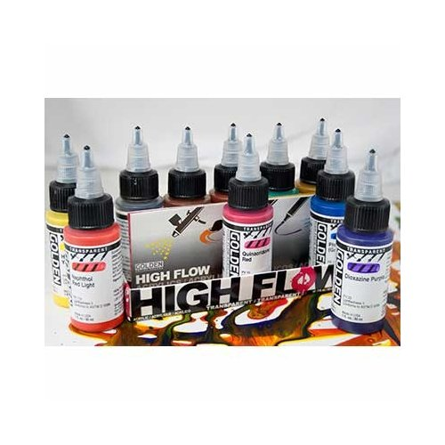 Golden High Flow Acrylic Transpr 10 Color Set