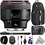 Canon EF 85mm f/1.2L II USM Lens w/Advanced Photo and Travel Bundle - Includes: Altura Photo Sling Backpack, Monopod, UV-CPL-ND4, Camera Cleaning Set
