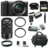 Sony a5100 w/ 16-50mm Power Zoom Lens (Black) &SEL55210 + 32GB Deluxe Acc Kit