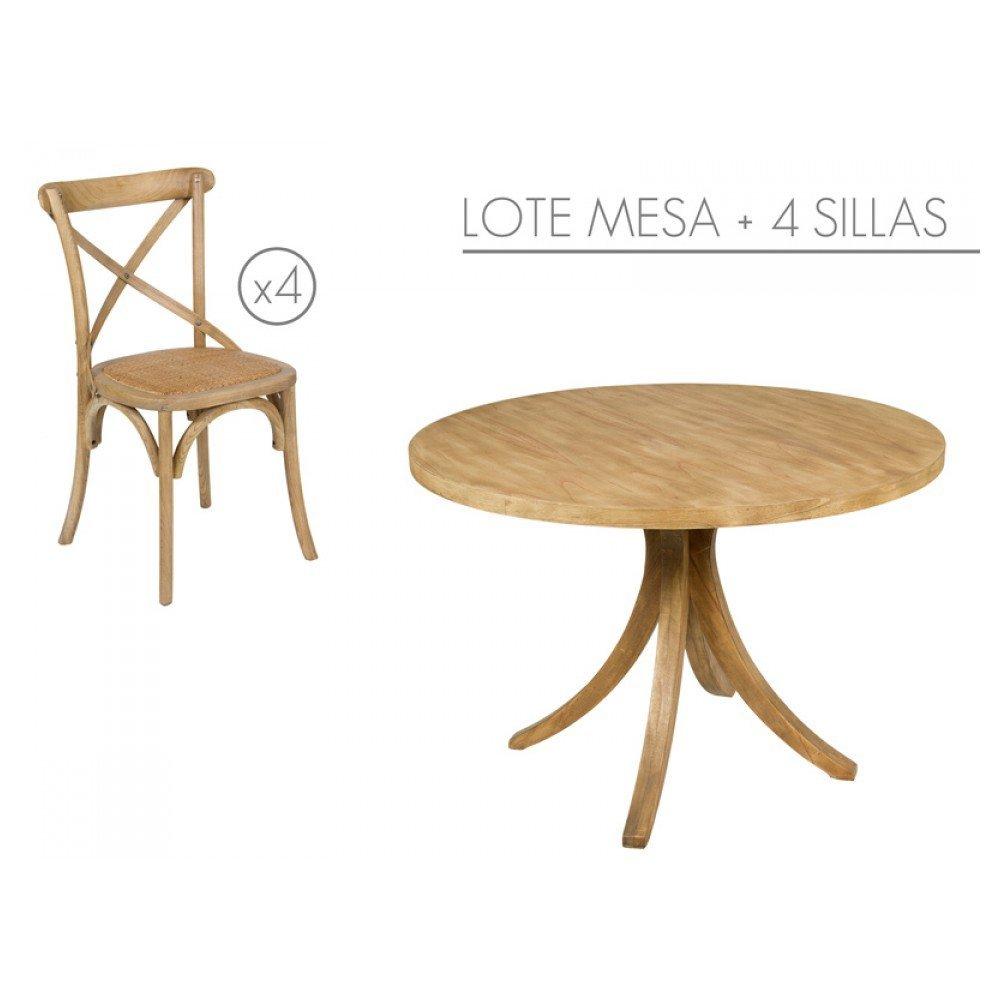 Stapel-tisch mit 4 stühlen
