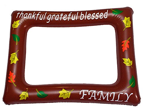 Lago Retail Happy Thanksgiving Inflatables - Selfie Frame Photo Props - Party Event Portrait Photo Booth Backdrop
