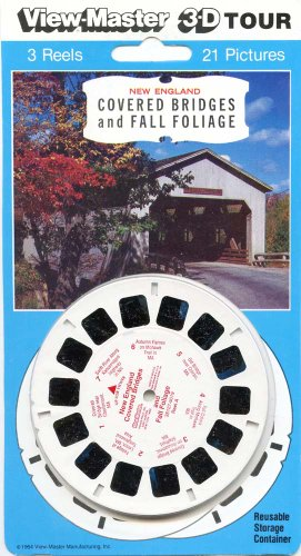 ViewMaster - New England Covered Bridges and Fall Foliage - 3 Reels on Card - NEW