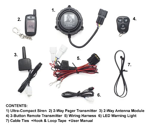gorilla automotive 9100 motorcycle alarm with 2