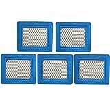 491588S Flat Air Filter Cartridge for Briggs & Stratton 491588 399959 4942245 4915885 3.5-6.5 HP Quantum Engines Push Mower Lawn Mower Air Filter 5Pack