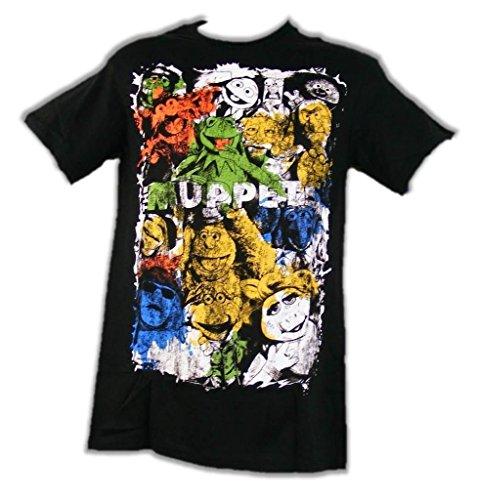 Muppets Gonzo Costume (Disney Men's Puppet Wall Short Sleeve T-Shirt, Black, 2XL)