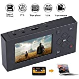 "Tangxi Portable 3"" TFT Screen AV Recorder Audio and Video Converter Video Capture Recording Player, VHS to Digital Converter to Capture Video from VCR, VHS Tapes, Hi8, Camcorder, DVD,TV Box"