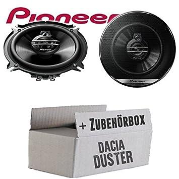 13cm 2-Wege 130mm PKW Koaxiallautsprecher Auto Einbausatz JUST SOUND best choice for caraudio Lautsprecher Boxen Pioneer TS-G1320F Einbauset f/ür Dacia Duster