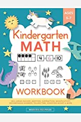 Kindergarten Math Workbook: Kindergarten and 1st Grade Workbook Age 5-7 | Homeschool Kindergarteners | Addition and Subtraction Activities + Worksheets (Homeschooling Activity Books) Paperback