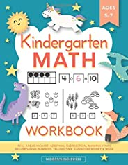 Kindergarten Math Workbook: Kindergarten and 1st Grade Workbook Age 5-7 | Homeschool Kindergarteners | Additio