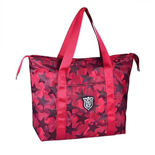 Bearstar Women's Travel Tote Shoulder Handbag,Super polyester fibre Extra Large Lightweight Camo Water-resistant,Camouflage - Red