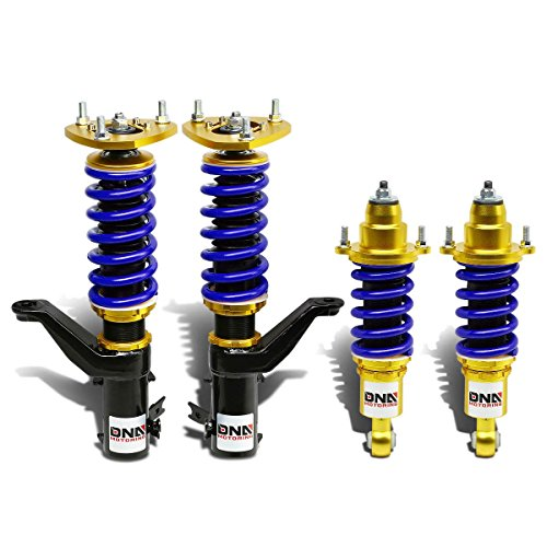 DNA Motoring DNACOILDPHC01GDBL Suspension Coilover Damper Shocks Kit (2003 Honda Civic Suspension compare prices)