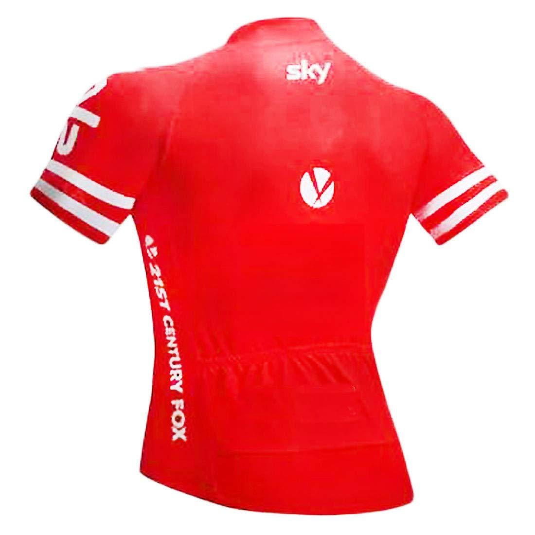 ZCFX,Kurzarm-Trikotanzug im Freien,Sky Kurzhülse Tragen Jersey-Klage,Sommer-Team-Fahrrad-Uniform-Radfahren-Radsport-Hosen,Radfahren Tragen Kurzhülse 63d404