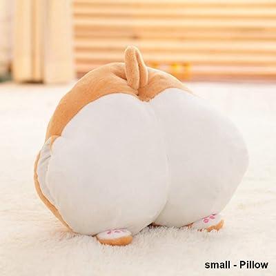 Lxfxin Juego de Juguete Cute Cartoon Corgi Hip Plush Cojín Soft Stuffed Animal Doll Toy Niños Regalos Sofá Decoración Marioneta de Mano ( Color : Cushion , Size : Small ): Juguetes y juegos