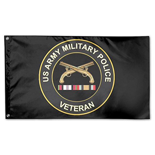 MoningV Army Military Police Veteran Decorative Flag House F