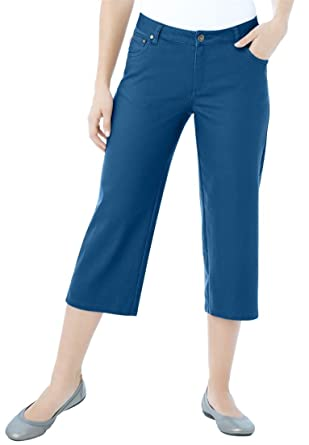Women's Plus Size Capri Stretch Jean at Amazon Women's Clothing ...