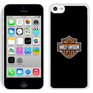 Customized Phone Case Design with Harley Davidson iPhone 5C Wallpaper in White