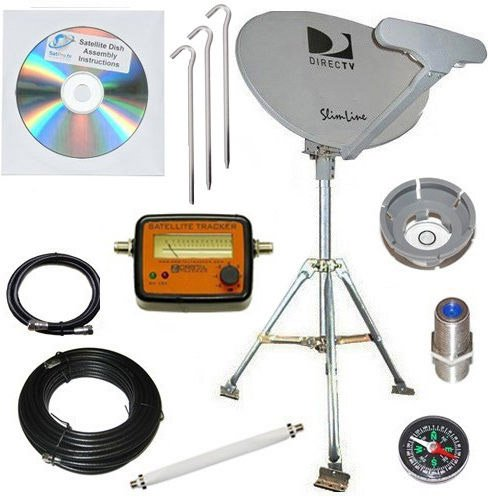 DirecTV SL5 Portable Satellite RV Dish Kit Camping Tailgating with Tripod