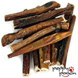 """6"""" Bully Sticks 12 Pack, Best Premium American Beef Chews. Ideal For All Dogs, Safe/Easily Digestible, Low Odor/Grain Free, Grass Fed/Free Range, USDA/FDA Approved, MAKE YOUR DOGS DAY!"""