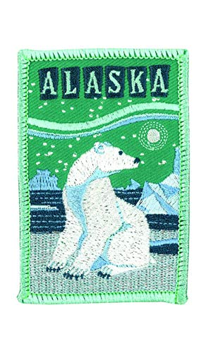 Alaska National Park Logo Flag Patch Series Embroidered Sew/Iron on Badge DIY Appliques