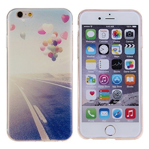 DAMINFE Iphone 4s TPU Case, Oil Painting Balloon Rose Flower Coco Tree Snowflake Pink Tree Pattern Thin Case Cover TPU Rubber Gel Bumper Scratch Resistant Soft Back Case For Apple Iphone 4S