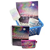 ''Choose Happy and BeYOUtiful'' Motivational Inspirational Gift Basket ideas for Girls, Teens, Tweens, Moms, College Student, Easter Basket, Birthday, Get Well, Care Package