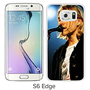 Beautiful Designed Cover Case For Samsung Galaxy S6 Edge With Kurt Cobain 1 White Phone Case