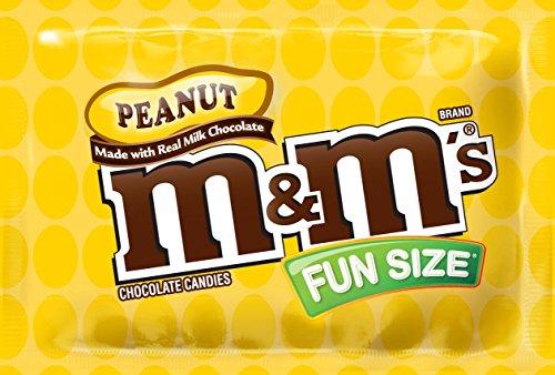M&M's Peanut Chocolate, Classic Candy  Bulk of Fun Size Snac