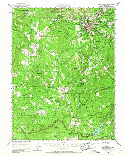YellowMaps Grass Valley CA topo map, 1:62500 Scale, 15 X 15 Minute, Historical, 1949, Updated 1968, 20.7 x 16.6 in - Tyvek ()