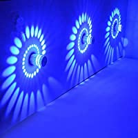 TiooDre Ceiling Light Spiral Effect 3W LED Down Wall Sconce Lamp Fixture Staircase Lighting Fitting Dimmable Indoor Hallway Lounge, Blue