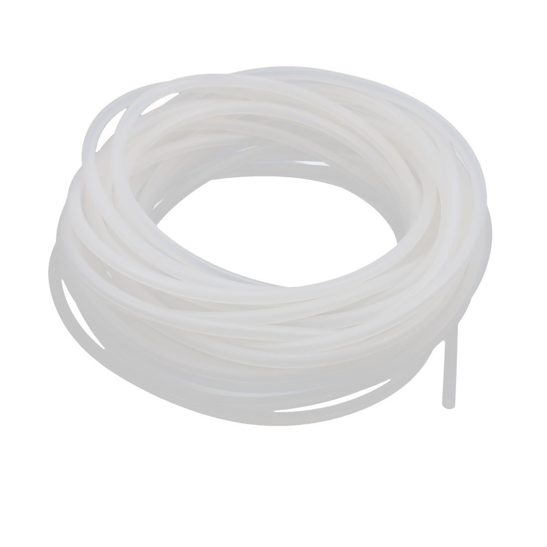sourcingmap Silicone Tube 4mm ID X 6mm OD 32.8 Feet Flexible Silicone Rubber Tubing Water Air Hose Pipe Translucent for Pump Transfer