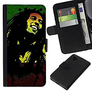 Stuss Case / Funda Carcasa PU de Cuero - Jamaica Reggae Music Rasta Weed - LG Nexus 5 D820 D821