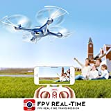 DoDoeleph-Syma-X5UW-Wifi-FPV-HD-Camera-Quadcopter-Drone-with-Flight-Plan-Route-App-Control-and-Altitude-Hold-Function-With-Extra-Battery