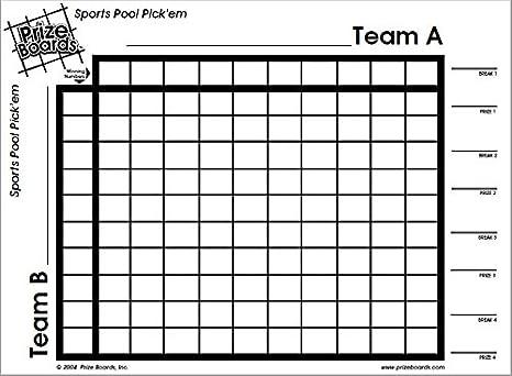 Amazon com : OFG Products Prize Boards - Sports Pool Pick'em