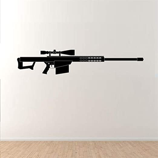 Pegatina De Pared Frases Barrett Sniper Army Rifle Fifty For