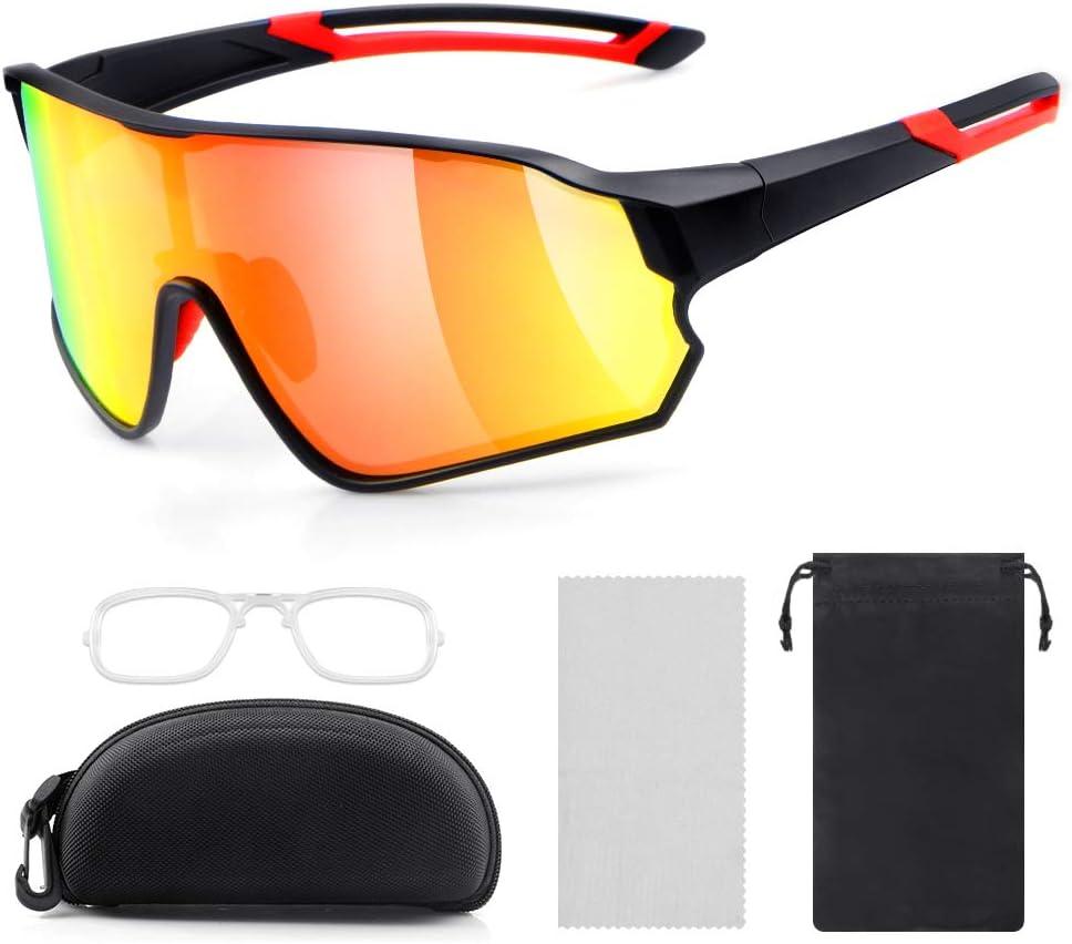 laxikoo - Gafas de Sol polarizadas para Hombre y Mujer con protección TR90 UV400, para Actividades al Aire Libre como Ciclismo, Correr, Escalada, Conducir, Pesca, Golf