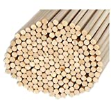 Pack of 100 Round Hardwood Dowel Rods 5/16'' Dia x 36'' Long 6305UB C.C. Red