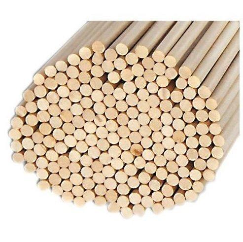 (Pack of 100 Round Hardwood Dowel Rods 3/8