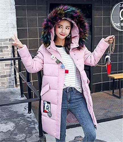Poches Éclair Basic Longues Vêtements Femme Mode Hiver Rose Jeune Outwear Vetement Avec A Manteau D'extérieur Capuche Veste Doudoune Manches Avant Correctifs Fermeture Chaud xZ7xp8q