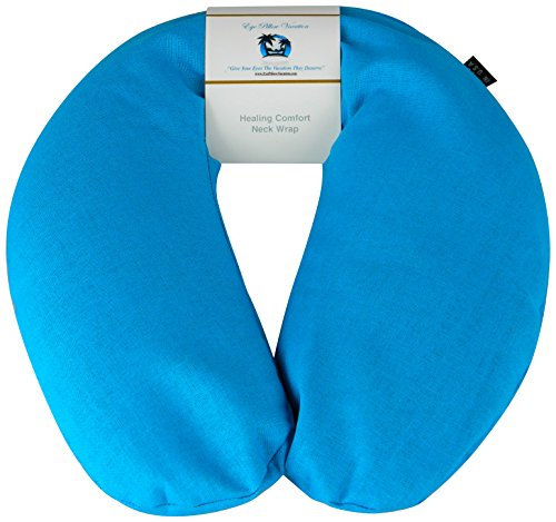 Neck Pain Relief Pillow - Hot / Cold Therapeutic Herbal Pillow For Shoulder & Neck Pain, Stress & Migraine Relief (Turquoise - Organic Cotton) (Microwaveable Herbal Neck Wraps)