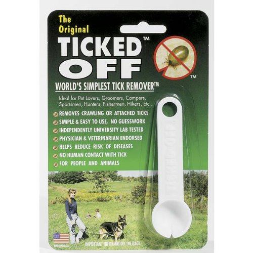 Ticked Off Pets Tick Remover, White