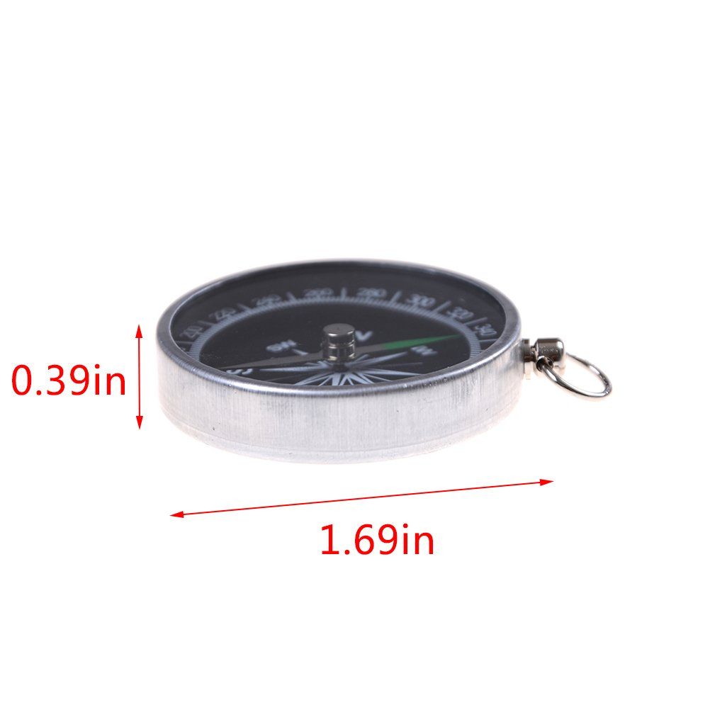 7thLake Pocket Compass for Hiking Camping Traveling Outdoor - Keychain - Portable Round Compass by 7thLake (Image #2)