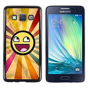TECHCASE**Cubierta de la caja de protección la piel dura para el ** Samsung Galaxy A3 SM-A300 ** Smiley Rainbow Sun Symbolic Lgbt Art