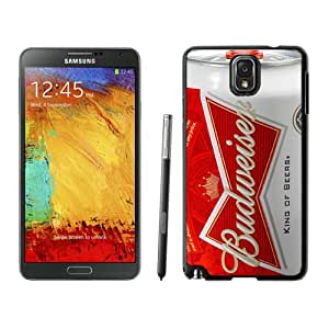 Beautiful And Unique Designed Case For Samsung Galaxy Note 3 N900A N900V N900P N900T With Budweiser Black Phone Case