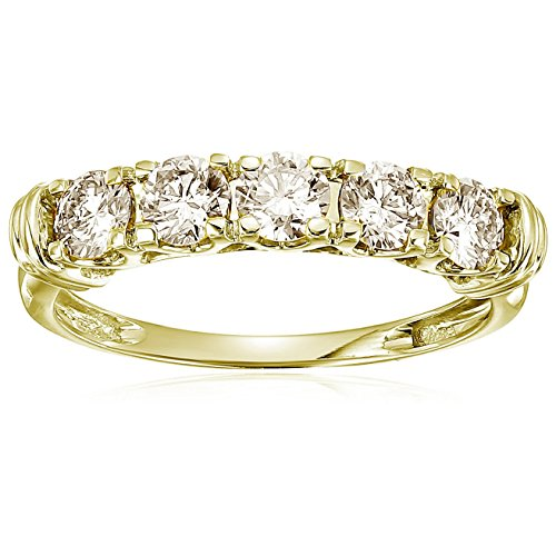 Vir Jewels 1 cttw 5 Stone Diamond Wedding Engagement Ring 14K Yellow Gold Size 4.5 (1 Carat Diamond Ring 14k Yellow Gold)