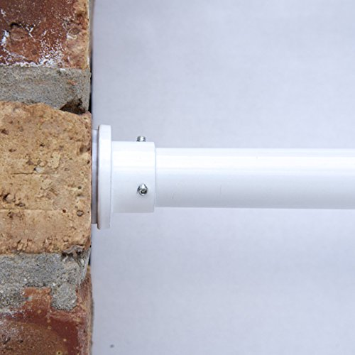 RoomDividersNow Premium Tension Curtain Rod, 120in-150in (White) -