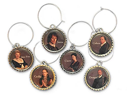 Outlander Character Wine Charms by Toy Vault