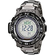 Casio Triple Sensor Protrek Watch with Titanium Band