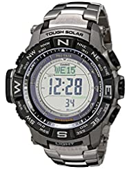 Casio Triple Sensor Protrek Watch with Titanium Band
