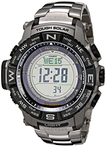 Casio Mens PRW-3500T-7CR Pro Trek Tough Solar Digital Sport Watch