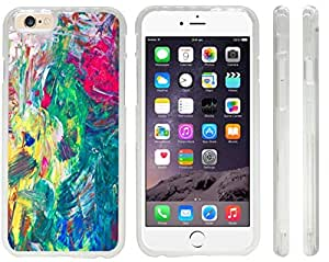 Rikki KnightTM Hand painted Colored Abstract Background Design iPhone 6 Case Cover (Clear Rubber with front bumper protection) for Apple iPhone 6
